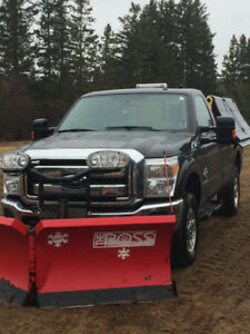 2012 F-250 Powerstroke with plow and salter