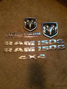 2017 Ram 1500 chrome badges