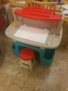 Children's Art Craft Activity center drawing Writing desk