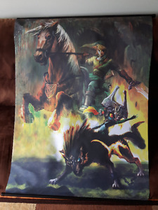 The Legend of Zelda Twilight Princess Wall Scroll Link and Midna