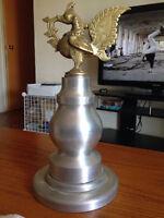 sculpture en alluminium et bronze