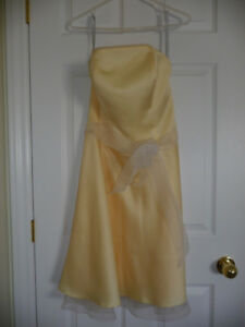 Butter yellow bridesmaid dress $20
