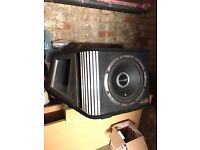 "Vibe 12"" sub 1600w with built in amp"