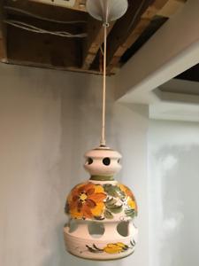 Hand painted retro pendant lamps