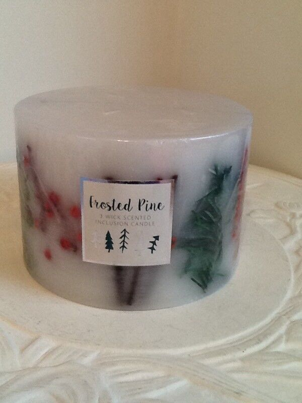 🎄Large 3 wick scented inclusion candle New