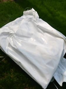 Plastic tarp -shrink wrap free