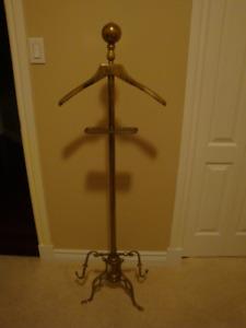 Antique Brass Suit Hanger and Vanity Dresser