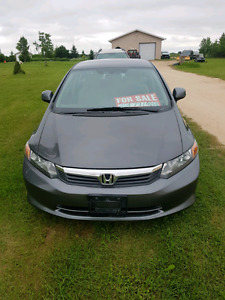 Honda civic lx 4 cyl sedan  2012