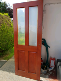 Solid Glazed Mahogany Internal Door