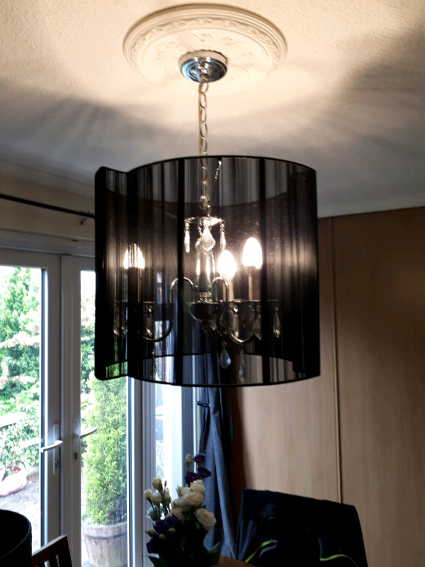 Large Black Chandler With Matching Lamp In Dunmurry Belfast Gumtree