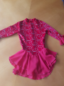 Skating dance dress - red, size youth small