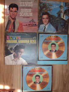 5 Old Elvis records for sale..