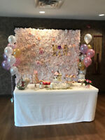 **Beautiful Flower Wall Wedding Decor**