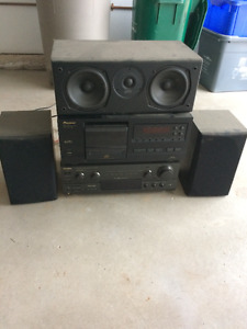 receiver cd player and speakers