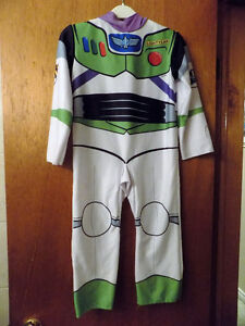 Toy Story BUZZ LIGHTYEAR & PADDED VINYLE WINGS Child Costune S