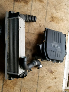Bmw 335 air intake box with filter and stock intercooler