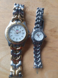 His and hers tag heuer vintage diver watches