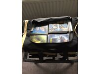 Bag of dvd's and games