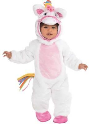 Baby Toddlers Mystical Pony Fancy Dress Costume Fairytale Rainbow Unicorn Animal ()