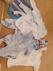3 to 6 months Mothercare sleepsuit bundle