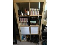 IKEA light wood shelving