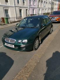 2003 Rover 25 low mileage long MOT 1.6 petrol