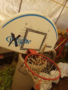 Basket Ball Backstop, Net and 10 foot pole for in-ground