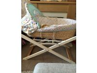Mothercare Moses basket and foldable stand