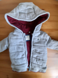 6-9m baby boy Debenhams Junior J grey padded hoody