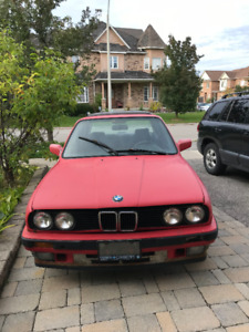 BMW 325i 1990 for a winter project-SOLD