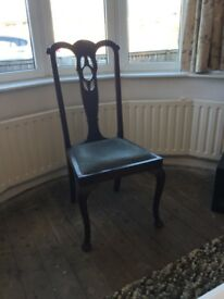 Ornate antique dining or occasion chair