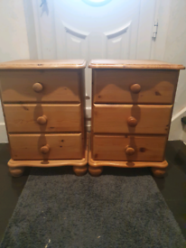 Lovely Solid pine bedside tables x2