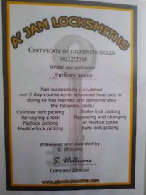 Locksmith and plumbing remedials