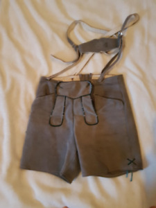 Vintage Leather Lederhosen (2 Pair)