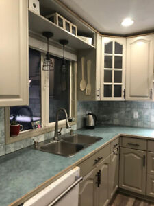 Grey Painted solid oak kitchen