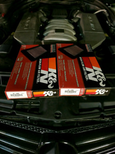 Mercedes AMG 6.2L performance air filters k&n
