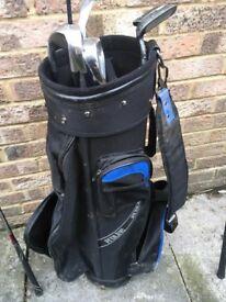 Golf bag and random clubs
