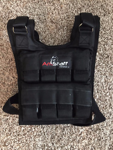 36lb weighted vest with removable weights