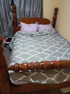 Double bed& frame