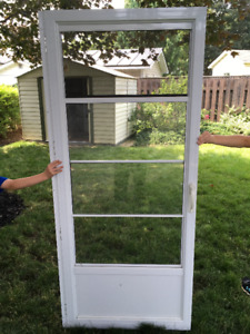 White Aluminum Screen Door