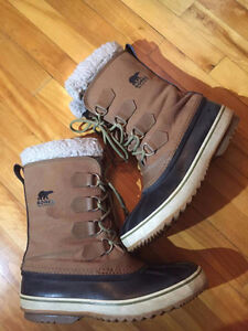 Bottes Sorel Homme taille 11 + Crampons