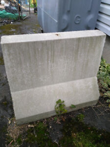 Cement block for oil tank