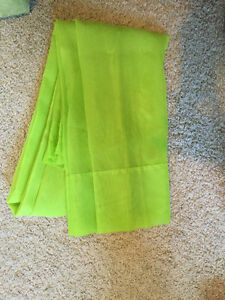 Lime Green Sheer Panels