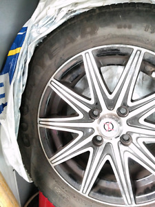 Goodyear Eagle GA tires WITH MAGS 195/60/R14