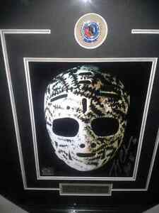 The Mask signed by Gerry Cheevers