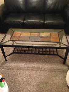 Glass coffee table and 1 end table London Ontario image 2
