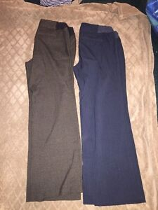 Maternity dress pants (brown and black) - size 12
