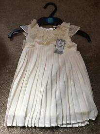 BNWT 6-9 Month Cream John Rocha Dress