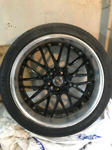 "20"" MSR Rim (black) and tire package"