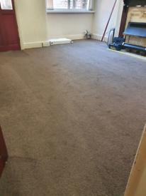 Living room carpet dark brown 14x13 feet approximately